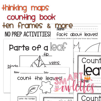 Leaves/FALL- Thinking Maps, No Prep Activities Cross-Curricular Pre K TK K