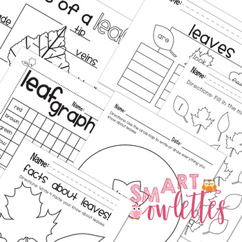 Leaves/FALL- Maps for Thinking, No Prep Activities Cross-Curricular Pre K TK K