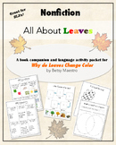 All About Leaves Nonfiction Speech Therapy Packet