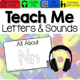 Teach Me Letters and Sounds: Letter Nn [Audio & Interactive Printable Book]