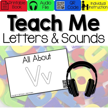Teach Me Letters and Sounds: Letter Vv [Audio & Interactive Printable Book]