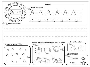 Letters / Letter Sounds / RTI / Letter Sound Worksheets