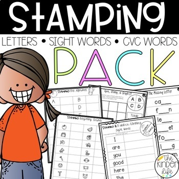 Word Work Stamping Pack Letters Sounds Sight Words & CVC Words