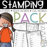 Stamping Letters Sight Words CVC Words
