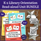 All About Libraries & Book Care BUNDLE (K-2 Activity Bookl