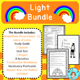 All About Light Bundle – Upper Elementary – No Prep, Print & Go