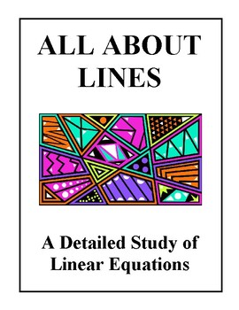 All About Lines and Linear Equations, Worksheets and Quizzes