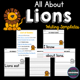 All About Lions: Writing Templates