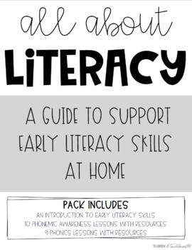 All About Literacy- A Guide to Support Early Literacy Skills at Home