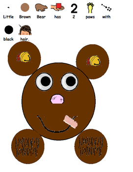 All About Little Bear (Autism, Speech, Art Project, 5 Senses)