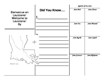 All About Louisiana Trifold