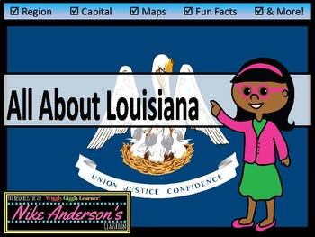 All About Louisiana | US States | Activities & Worksheets
