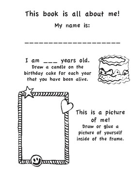 All About ME! A Coloring and Fill-in Biography activity book