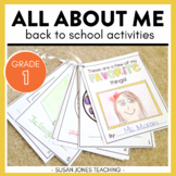All About Me Activities for Back to School