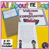 Back to School All About ME Bag  Back to School Activity