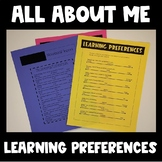 All About ME! Learning Environment (Back to School)