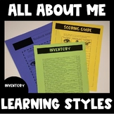 All About ME! Learning Styles (Back to School)