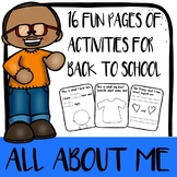 All About ME - Back to School Pack