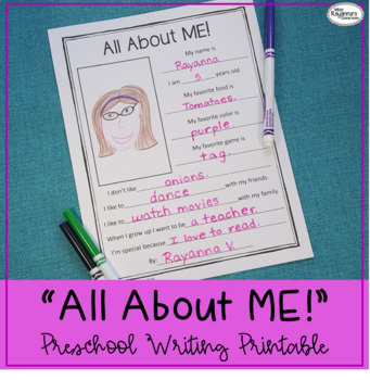 All About ME! Printable