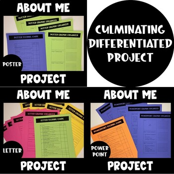All About ME! Project (Back to School)