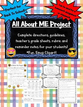 All About ME! Project- Perfect for Back to School!