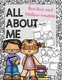 All About ME: Readers and Writers Version