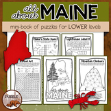 All About Maine Puzzle Mini-Book For Lower Elementary