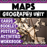 Map Skills Worksheets, Activity Book, Lapbook, and Posters