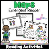 All About Maps Emergent Reader Book AND Interactive Activities