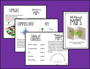 "Easy Reader ""All About Maps"" Printable Book"