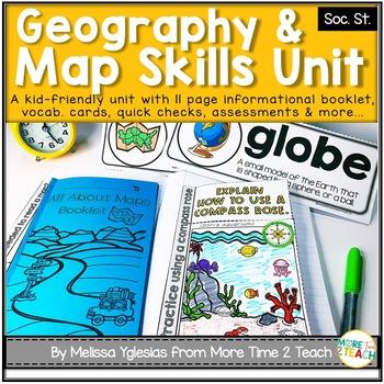 All About Maps Unit {Interactive Mini-Book, Vocab. Cards, Quick Checks...}
