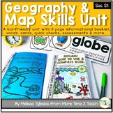 Geography Map Skills Unit: Info Text, Int. Notebook, Assess, Quick Checks + More
