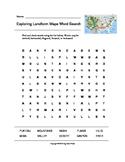 Exploring Landform Maps Word Search (Grades 4-5)