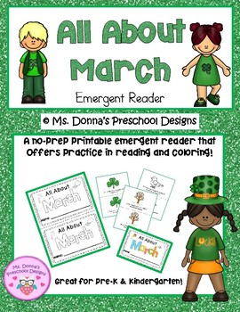 All About March Emergent Reader
