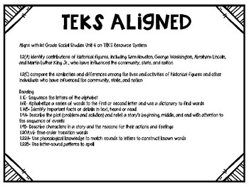 All About Martin {TEKS ALIGNED}