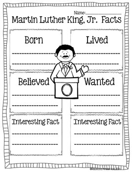 All About Martin Luther King, Jr. Informational Writing: Common Core Aligned