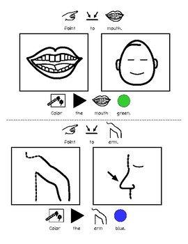 All About Mat Man: Vocabulary and Body Part Review Printable Book