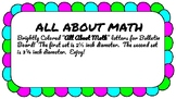 All About Math Bulletin Board