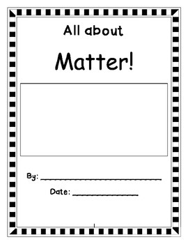 All About Matter Book Template
