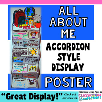 All About Me Poster - Accordion Style for Back to School