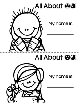 All About Me Book - Back to School Activities