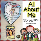 ALL ABOUT ME 3D BALLOON CRAFT   A BACK TO SCHOOL ACTIVITY