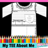 """All About Me Poster """"Tee"""":  A Back to School Activity"""