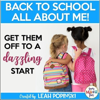 First Week of School: Back to School All About Me No Prep Packet