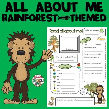 All About Me Rainforest Theme