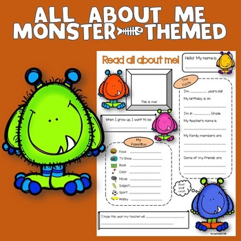 All About Me Monster Theme