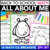 Back to School Math: All About Me Math Activities