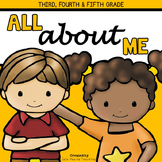 All About Me: 3rd Grade, 4th Grade, 5th Grade All About Me Activities