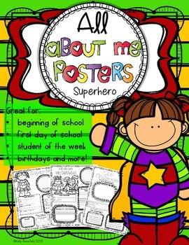 All About Me: Superhero Theme Classroom