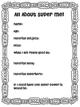 Superhero Theme  All About Me